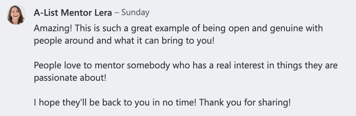 Lera Responds to Adriana from Toronto